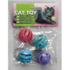 Slotted Balls Cat Toy (4 Pack)