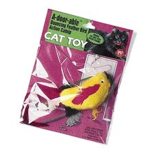 A-Door-Able Plush Bird Cat Toy