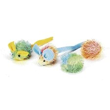 <strong>Ethical Pet</strong> Stringy Mice/Ball Cat Toy (4 Pack)