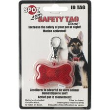 Safe T Tag Bone Shape Led ID Dog Safety Light