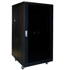 Viking Enclosed 18 Space Rack with Cooling System in Black