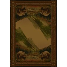 Hautman Grizzly Mountain Lodge Novelty Rug