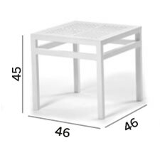 Victor Square Aluminium Side Table