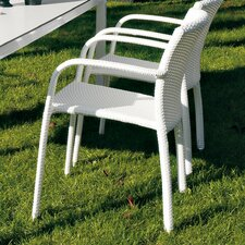 Cafeplaya Stackable Dining Chair with Cushion by Varaschin R and D