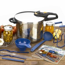 <strong>Fagor</strong> Duo 9 Piece Stainless Steel Pressure Canning Set
