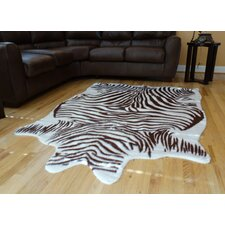 Animal Hide Brown/White Zebra Hide Rug