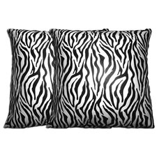 Decorative Zebra Polyester Pillow (Set of 2)