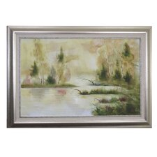 RiverLake Framed Original Painting