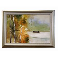 River Boat Framed Original Painting