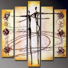 Dancer 5 Piece Original Painting on Canvas Set