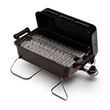Portable Deluxe Tabletop Gas Grill with Push-Button Ignition
