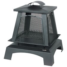 Trentino Outdoor Fireplace with Removable Screens