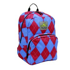 Day Trippin Backpack in Berry Argyle Print