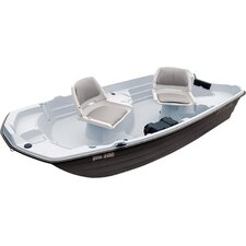 Pro 10.2' Sun Dolphin Fishing Boat in Light Gray / Dark Gray