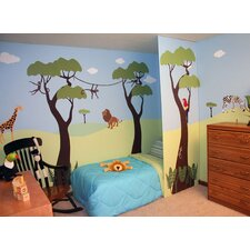 <strong>My Wonderful Walls</strong> Wild Jungle Safari Wall Stencil Kit