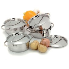 Resto 0.58-qt. Pot Set with Lids (Set of 4)