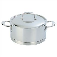 Atlantis 3 1/5-Qt. Stainless Steel Round Casserole / Dutch Oven