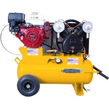17 Gallon 8 HP 1 Stage Air Compressor with Wheels