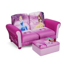 <strong>Delta Children</strong> Disney Princess Kids Sofa and Ottoman
