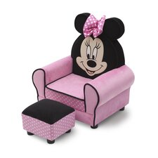 <strong>Delta Children</strong> Minnie Mouse Kids Club Chair and Ottoman