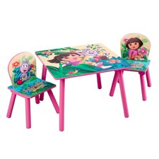 Nickelodeon Dora the Explorer 10th Anniversary Kids' 3 Piece Table and Chair Set