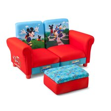 <strong>Delta Children</strong> Disney Mickey Mouse Kids Sofa and Ottoman