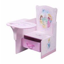 Disney Princess Kids Chair Desk with Storage