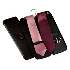 Tie Case with Hanger in Black