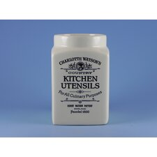 Charlotte Watson Utensil Jar in Cream