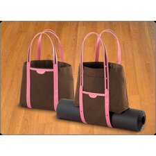 Convertible Tote in Brown and Pink