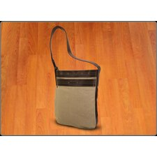 <strong>Crescent Moon</strong> Mat Sleeve Messenger Bag in Natural / Brown