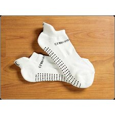 ExerSock Large Yoga and Pilates Socks in White (3-Pack)