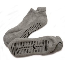 ExerSock Large Yoga and Pilates Socks in Gray (3-Pack)