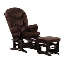 Soft Microfiber Modern Multi Position Glider and Ottoman