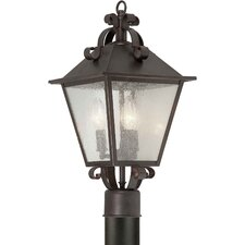 "<strong>Forte Lighting</strong> Outdoor 3 Light 19"" Post Lantern"