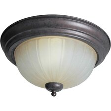 "<strong>Forte Lighting</strong> 11.25"" 2 Light Flush Mount"