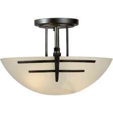 2 Light Incandescent Semi Flush Mount