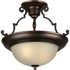 "15"" 2 Light Semi Flush Mount"