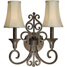 <strong>Forte Lighting</strong> 2 Light Wall Sconce