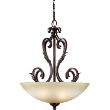 <strong>Forte Lighting</strong> 4 Light Bowl Inverted Pendant