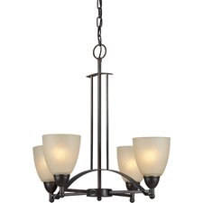 <strong>Forte Lighting</strong> 4 Light Chandelier