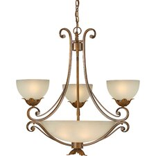 <strong>Forte Lighting</strong> 7 Light Chandelier with Umber Shades