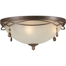 <strong>Forte Lighting</strong> 2 Light Flush Mount - Umber Shade