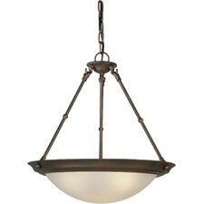 <strong>Forte Lighting</strong> 3 Light Bowl Inverted Pendant