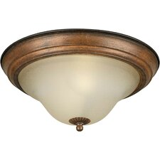 <strong>Forte Lighting</strong> 1 Light Flush Mount