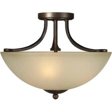 <strong>Forte Lighting</strong> 3 Light Semi Flush Mount