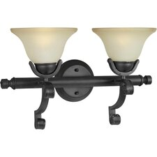 <strong>Forte Lighting</strong> 2 Light Bath Vanity Light