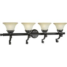 <strong>Forte Lighting</strong> 4 Light Bath Vanity Light