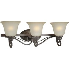 <strong>Forte Lighting</strong> 3 Light Bath Vanity Light