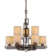 <strong>Forte Lighting</strong> 9 Light Chandelier